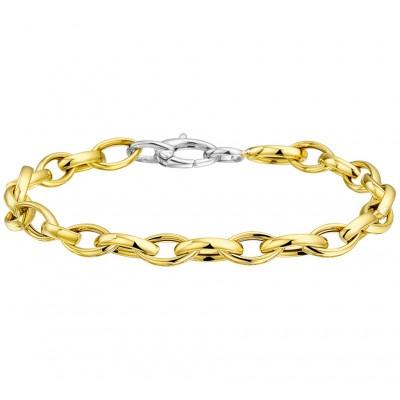 Eigentijds bicolor gouden damesarmband