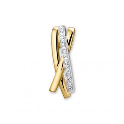 Hanger met edelsteen diamant