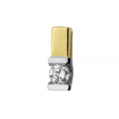Mooie edelsteen hanger met diamant