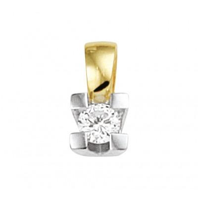 Prachtige edelsteen hanger met diamant