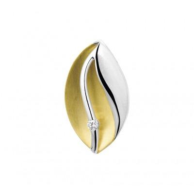 Prachtige edelsteen hanger uitgevoerd met diamant