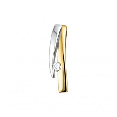 Rechte gouden hanger bicolor