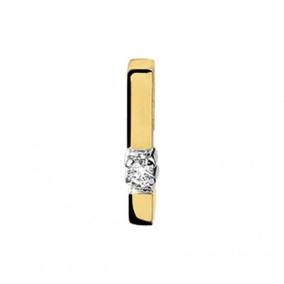 Schitterende edelstenen hanger met diamant bicolor