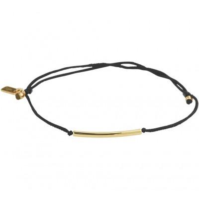 Katoenen armband met gouden staafje 13 19 cm