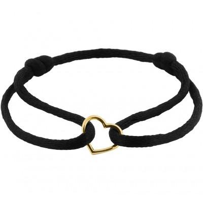 Satijnen armband met hartje