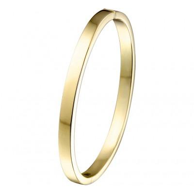 14-krt Gouden slavenarmband vlak 5 mm graveerbaar