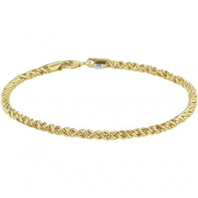 Gouden armband draadschakel