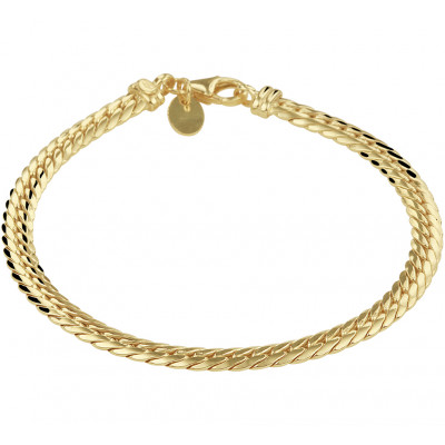 Gouden armband gourmet massief