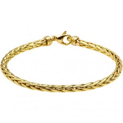Gouden armband vossestaart massief