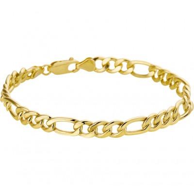 Gouden schakelarmband heren figaro schakels