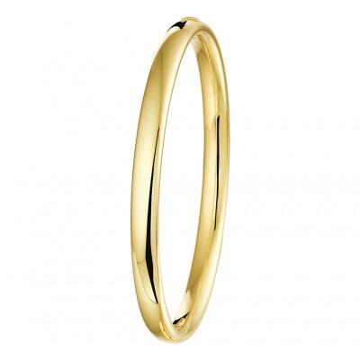 Gouden slavenarmband ovaal met kern 6 mm