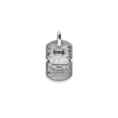 Buddha to Buddha Army Tag Pendant Silver