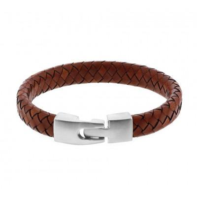 Heren armband licht bruin 21,5 cm