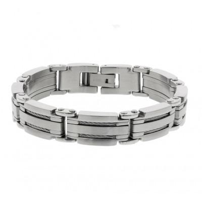 Stalen armband voor mannen met fantasie schakels