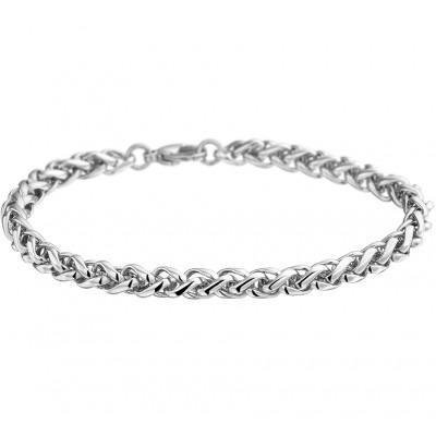 Stalen Palmier armband dames 19 cm