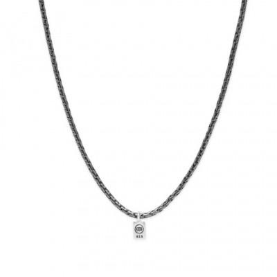 Buddha to Buddha George XS Necklace Black Rhodium Silver