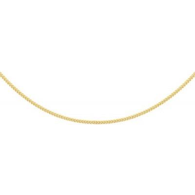 Gourmet schakel ketting goud 1 mm