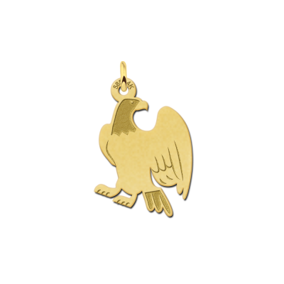 Adelaar hanger van goud
