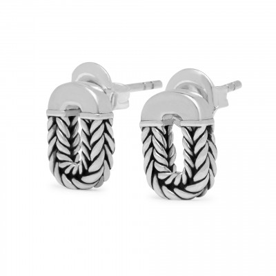 Buddha to Buddha oorbellen 109 one Barbara Link earstuds silver