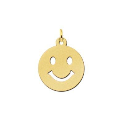 Gouden smiley hanger