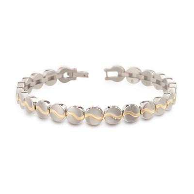 Boccia bicolor armband 03023-02 titanium