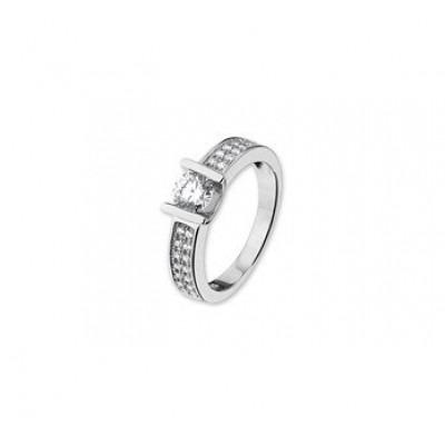 Dames ring zilver met steen