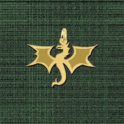Gouden draak hanger