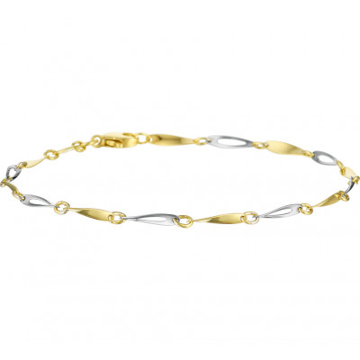 Een subtiel bicolor gouden armbandje voor elke vrouw