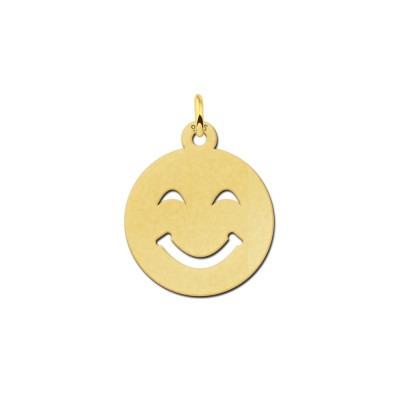 Gouden emoji hanger glimlach