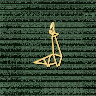 Geometrische hanger goud dinosaurus
