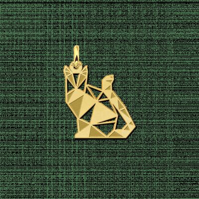 Geometrische hanger goud poesje