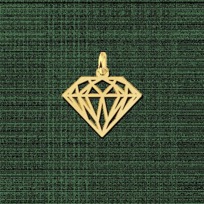 Geometrische hanger van goud diamant
