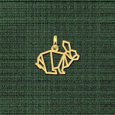 Geometrische hanger van goud konijn