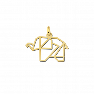 Geometrische hanger van goud olifant