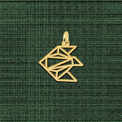 Geometrische hanger van goud vis