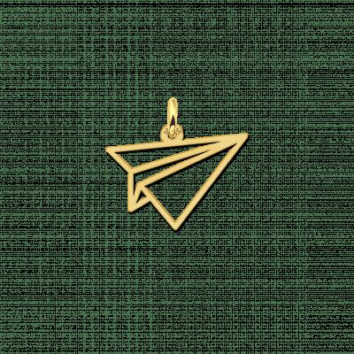 Geometrische hanger van goud vliegtuigje