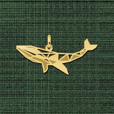 Geometrische hanger van goud walvis