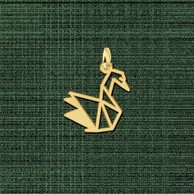 Geometrische hanger van goud zwaan