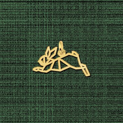Gouden geometrische hanger konijn
