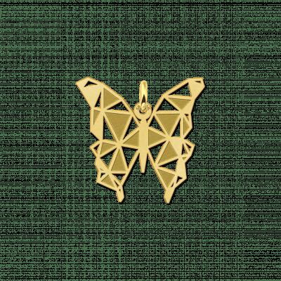 Gouden geometrische hanger vlinder