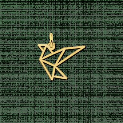 Gouden geometrische hanger vogel