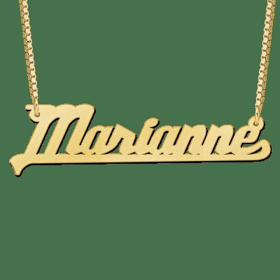 Gouden ketting met naam voorbeeld Marianne
