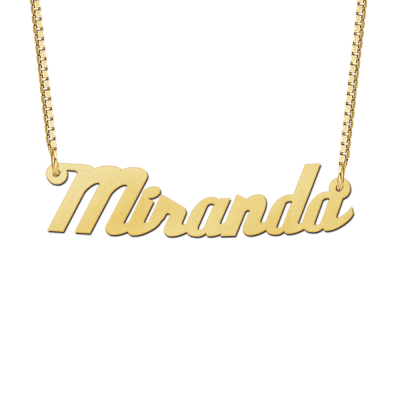 Gouden ketting met naam voorbeeld Miranda
