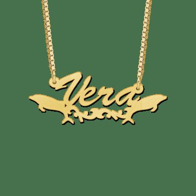 Gouden kinder naamketting voorbeeld Vera