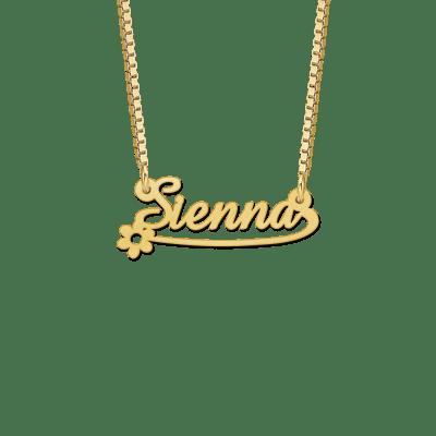 Gouden naamketting kind voorbeeld Sienna