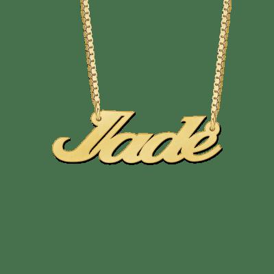 Ketting met naam goud voorbeeld Jade