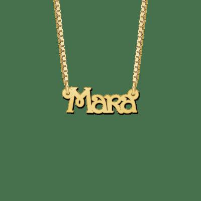 Kinder naamketting goud voorbeeld Mara