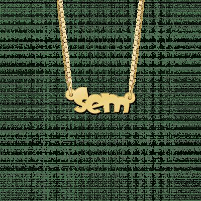 Kinder naamketting van goud voorbeeld Sem
