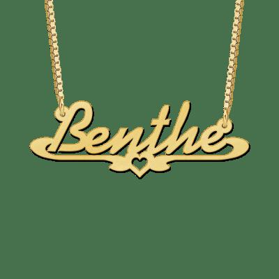 Naamketting van goud voorbeeld Benthe