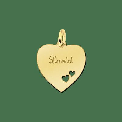 Gouden hanger hart met gravure Names4ever
